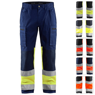 HOB-BLA-1551-1811 High Vis Stretch-Bundhose BLAKLÄDER 1551